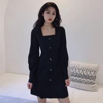 Scarf / silk scarf / Shawl other Black s black m black l Black XL Black XXL female Solid color Geessoew / geese Spring 2021