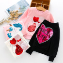 Sweater / sweater Ashkelira White, black, pink - Double cat, pink - pony, pink - little beauty, yellow - Snow White, white - isanna, purple - isanna female 100cm,110cm,120cm,130cm,140cm,150cm,160cm spring and autumn nothing Cartoon Socket routine There are models in the real shooting cotton ctb191036