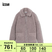short coat Winter of 2018 XS S M Light Purple Long sleeves routine easy other zipper Solid color 18-24 years old izzue 96% and above IZXJKC7194W8B polyester fiber Polyester 100% Same model in shopping mall (sold online and offline)
