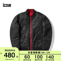 Down Jackets Black Khaki izzue White duck down 2 3 4 5 Youth fashion Other leisure routine routine 70% Wear out Hoodless stand collar Wear out youth 150g (including) - 200g (excluding) tide Polyamide fiber (nylon) 100% Solid color Winter of 2018 Pure e-commerce (online only)