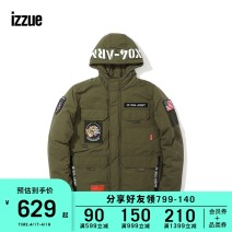 Jacket izzue Youth fashion Black Khaki S M L XL standard Other leisure Cotton 65% polyamide fiber (nylon) 35% Winter of 2018 Same model in shopping mall (sold online and offline)
