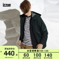 Jacket izzue Youth fashion Black Dark Green 2 3 4 5 routine standard Other leisure winter IZXJKL7146F8B Polyester 100% Long sleeves Wear out Hood tide routine Zipper placket Solid color Winter of 2018 Same model in shopping mall (sold online and offline)
