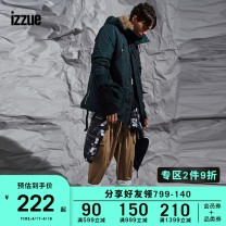 Casual pants izzue Youth fashion Beige Black 2 3 4 5 trousers Other leisure Straight cylinder IZXPTL6134W8B Cotton 97.8% polyurethane elastic fiber (spandex) 2.2% Winter of 2018 Same model in shopping mall (sold online and offline)