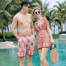 Couple swimsuit other M,L,XL,XXL,XXXL,4XL Women's, men's 21119-4+21812 Nylon, spandex, polyester, others currency