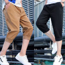 Casual pants Youth fashion M L XL 2XL 3XL 4XL thin Cropped Trousers Other leisure easy Micro bomb S158 summer teenagers tide 2020 middle-waisted Little feet Cotton 100% Haren pants Hem at hem No iron treatment Solid color Khaki cotton Summer 2020 Pure e-commerce (online only) More than 95%