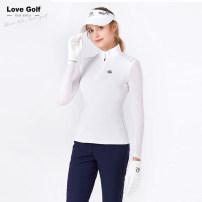 Golf apparel White Long Sleeve T-shirt, blue trousers S,M,L,XL female LoveGolf Long sleeve T-shirt XLU0091