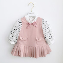 Dress In stock, scheduled 7-15 days delivery female Other / other 80cm,90cm,100cm,110cm,120cm,70cm Cotton 80% other 20% spring and autumn Long sleeves cotton Pleats 3 months, 12 months, 6 months, 9 months, 18 months, 2 years old, 3 years old, 4 years old, 5 years old