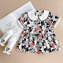 Dress goods in stock female Other / other 80cm,90cm,100cm,110cm,120cm Cotton 80% other 20% summer lady Long sleeves Cartoon animation other Splicing style 12 months, 3 years, 6 years, 18 months, 9 months, 6 months, 2 years, 5 years, 4 years Chinese Mainland