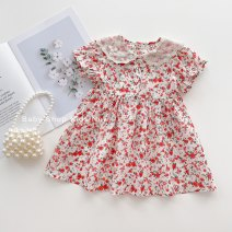 Dress goods in stock female Other / other Size 5, recommended height 120cm, size 4, recommended height 110cm, size 3, recommended height 100cm, size 2, recommended height 90cm, size 1, recommended height 80cm Cotton 80% other 20% summer Korean version Long sleeves lattice other Princess Dress B2779