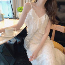 Women's large Summer 2021 White suspender skirt L XL S M singleton  commute Self cultivation Socket Sleeveless Solid color Korean version V-neck other routine 5805- Aolltl / oriti 18-24 years old 96% and above longuette Other 100% Pure e-commerce (online only)