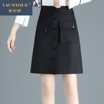 skirt Autumn 2020 20/M 21/L 22/XL 23/XXL 24/3XL 25/4XL black Short skirt commute High waist A-line skirt Solid color Type A A20D024 More than 95% other Taunydue / tonyton other Pleated pocket button zipper stitching Korean version Other 100% Pure e-commerce (online only)