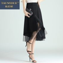 skirt Autumn 2020 20/M 21/L 22/XL 23/2XL 24/3XL 25/4XL black Mid length dress commute High waist A-line skirt Solid color Type A A20CQ2868 More than 95% other Taunydue / tonyton other Three dimensional decorative button mesh splicing Korean version Other 100% Pure e-commerce (online only)