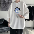 T-shirt Youth fashion White Navy Black routine M L XL XXL XXXL 4XL 5XL Mingyang / mingliyang three quarter sleeve Crew neck easy Other leisure summer MLY032320 Polyester 100% teenagers routine tide Spring 2021 Cartoon animation printing other Pure e-commerce (online only)