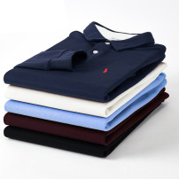 Polo shirt Paul Gang Business gentleman routine easy business affairs winter Long sleeves Exquisite Korean style routine Large size Cotton 100% 2018 Solid color cotton washing Embroidery More than 95%