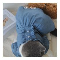 Pet clothing / raincoat currency Dress XS,S,M,L,XL,XXL princess Denim blue cotton