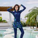 one piece  Other L,XL,4XL,5XL,6XL,2XL,3XL Black, blue No chest pad nylon female Long sleeves Casual swimsuit