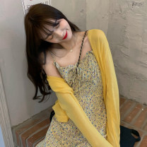 Dress Summer 2021 braces skirt S M longuette singleton  commute High waist Socket A-line skirt other camisole 18-24 years old Type A Doiko Korean version dyk897 More than 95% other Other 100%