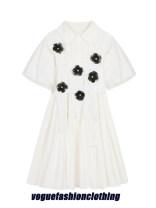 Dress Summer 2020 white S, M Miniskirt Two piece set Short sleeve commute square neck High waist Socket A-line skirt pagoda sleeve Type A