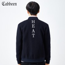 Jacket CABBEEN / Carbene Youth fashion Navy 97 48/170/M 50/175/L 52/180/XL 54/185/XXL 56/190/XXXL routine standard Other leisure winter Wool 71.8% polyester 23.4% others 4.8% Long sleeves Baseball collar Basic public youth routine Zipper placket other Woollen cloth Winter of 2018 other