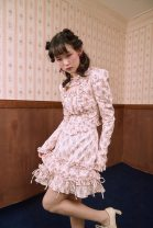 skirt Spring 2021 S,M,L Beige flower Short skirt Sweet Natural waist A-line skirt Broken flowers Type A More than 95% Poplin cotton Bowknot, tuck, lace, hollow out, ruffle, wave, bandage princess