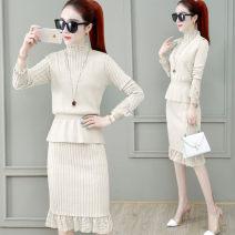 Fashion suit Autumn 2020 S M L Royal Blue apricot black Khaki Dark Khaki light green 18-25 years old Crape myrtle Other 100%