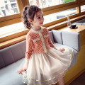 suit Elephant flower Orange Black 90cm 100cm 110cm 120cm 130cm 140cm 150cm 160cm female spring and autumn Korean version Long sleeve + skirt 2 pieces routine There are models in the real shooting Single breasted nothing lattice other children Learning reward TQ19217 Class B Autumn of 2019