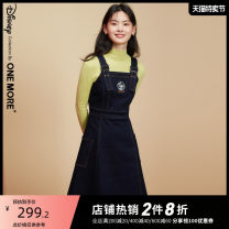 Dress Winter 2020 Denim dark blue denim dark blue presale 2 denim dark blue presale 1 155/80A/XS 160/84A/S 165/88A/M Middle-skirt singleton  Sleeveless commute other High waist Solid color Socket other other straps 25-29 years old Type A one more Simplicity A1YAA410121-444746 cotton