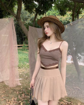 Vest sling Summer 2021 Suspender vest and pleated skirt S. M, average size Two piece set Self cultivation commute camisole 18-24 years old 81% (inclusive) - 90% (inclusive)