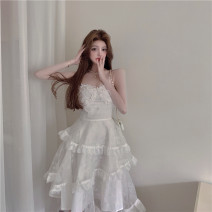 Dress Summer 2021 Picture color S, M longuette singleton  Sleeveless commute High waist A-line skirt other camisole 18-24 years old Type A Korean version 81% (inclusive) - 90% (inclusive)