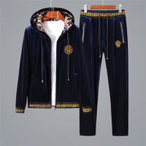 Leisure sports suit winter M. L, XL, xxl140-155kg, xxxl155-170kg, xxxxl170-190kg Black 3805, blue 3805, black 3825, blue 3825 Long sleeves Versace trousers teenagers