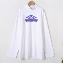 Sweater / sweater Autumn 2020 white S. M, l, print with words, have activities, live room has exclusive activities Long sleeves routine Socket singleton  routine stand collar easy street routine Dot 25-29 years old 96% and above Other / other cotton 10280-A30 Printing, 3D, resin fixation cotton