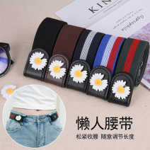 Belt / belt / chain Pu (artificial leather) currency belt Versatile Single loop youth Smooth button other printing 3cm Naked, elastic, flower Other / other