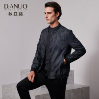 Jacket D. Diano / Anuo Business gentleman Black - 90 165/88A 170/92A 175/96A 180/100A 185/104A 190/108A routine standard Other leisure autumn Long sleeves Wear out Baseball collar Business Casual youth routine Zipper placket Rib hem The appearance is loose and the inside is closed Geometric pattern