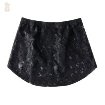 skirt Spring 2020 M [90-110kg], l [110-130kg], XL [130-150kg], 2XL [150-180kg] F59-9901 white lace, t82-9902 black lace Miniskirt fresh High waist Fluffy skirt Cartoon animation I45729 knitting Other / other cotton bow