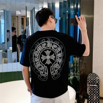 T-shirt Fashion City Black, white routine M. L, XL, 2XL, 3XL, try it on carefully, reference at ease Tagkita / she and others Short sleeve Crew neck easy Other leisure spring youth routine tide 2021 Geometric pattern printing cotton Customization / DIY washing Fashion brand