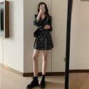 Dress Spring 2021 Single floral skirt single suit coat floral skirt + suit coat S M L XL Short skirt singleton  Long sleeves commute V-neck High waist Broken flowers Socket A-line skirt other Others 18-24 years old Type A Looking for green Korean version 52572646-85283 More than 95% other other