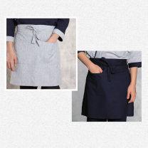 Hotel uniform Spring of 2018 Hemp grey double pockets, navy blue double pockets M