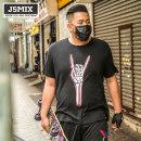 T-shirt Youth fashion black routine L Jsmix 72JT0561 Cotton 100% Knitted fabric Summer 2017