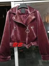 short coat Spring of 2018 S,M,L,XL red Long sleeves have cash less than that is registered in the accounts routine singleton  Self cultivation Original design routine tailored collar zipper Solid color 25-29 years old 31% (inclusive) - 50% (inclusive) A5BB81701 polyester fiber polyester fiber