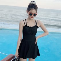 one piece  Other brands S [recommended 80-90 kg], m [recommended 90-100 kg], l [recommended 100-110 kg], XL [recommended 110-120 kg], XXL [recommended 120-130 kg], XXXL [recommended 130-140 kg] Skirt one piece With chest pad without steel support Polyester, others female Sleeveless Casual swimsuit