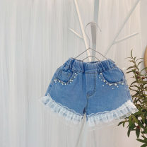 trousers Other / other female 80cm,90cm,100cm,110cm,120cm,130cm shorts summer shorts Korean version No model Jeans Denim Don't open the crotch Class B 2 years old, 3 years old, 4 years old, 5 years old, 6 years old