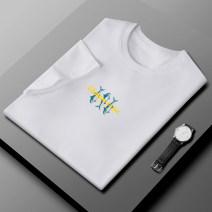 T-shirt Fashion City routine M L XL 2XL 3XL 4XL 2RZ Short sleeve Crew neck easy Other leisure summer RZ-DSD2803TXXXXX Polyethylene terephthalate (PET) 96% polyurethane elastic fiber (spandex) 4% youth routine Basic public Summer 2021 character printing polyester fiber other No iron treatment