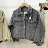 short coat Spring 2021 M, L Grey 2 , Khaki 3 , Brown 1 Long sleeves routine routine singleton  Straight cylinder commute routine Polo collar Single breasted 18-24 years old 30% and below SH311960 cotton cotton
