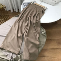 Casual pants Gray 1, khaki 2 S,M,L Spring 2021 trousers Straight pants High waist commute routine 18-24 years old 30% and below SS111466 cotton Korean version cotton