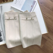 skirt Summer 2021 S,M,L Apricot Short skirt commute High waist A-line skirt 18-24 years old SS111980 30% and below cotton Korean version 40g / m ^ 2 and below