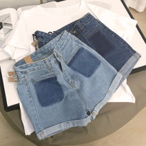Jeans Summer 2020 Dark blue 2, light blue 1 S,M,L,XL shorts High waist Straight pants routine 18-24 years old other light colour SH304121 30% and below