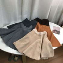 skirt Spring 2021 Average size Brown 1, dark gray 6, light gray 2, khaki 4, gray 5, brown 3 Short skirt commute Natural waist A-line skirt Solid color Type A 18-24 years old DG110100 30% and below knitting cotton Korean version 40g / m ^ 2 and below