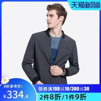 Jacket Camel Fashion City dark grey M L XL XXL XXXL routine standard Other leisure Long sleeves Wear out Baseball collar Basic public youth routine Zipper placket Rib hem Closing sleeve Solid color Autumn of 2018 Embroidery Side seam pocket