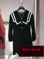 Dress Spring 2021 black XS,S,M,L,XL Middle-skirt singleton  Long sleeves Admiral Socket shirt sleeve