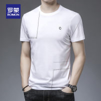 T-shirt Fashion City routine 48 50 52 54 56 58 Romon / Romon Short sleeve Crew neck Self cultivation sandy beach summer youth routine Business Casual Spring 2021 other Domestic famous brands Pure e-commerce (online only)